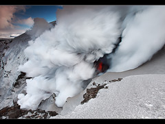 Steam Pump - Eyjafjallajkull Eruption (orvaratli) Tags: travel mountain snow ice danger river landscape flow volcano lava iceland steam glacier heat melt eruption magma rsmrk katla icelandic thorsmork mrdalsjkull fimmvruhls eyjafjallajkull myrdalsjokull hvannrgil arcticphoto hrunagil rvaratli orvaratli