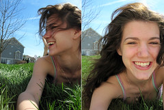 proljece je (tara_tearex) Tags: sun girl grass spring bright happiness laughter canonsd780