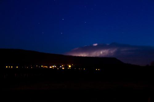 Licht in den Wolken - Langzeitbelichtung