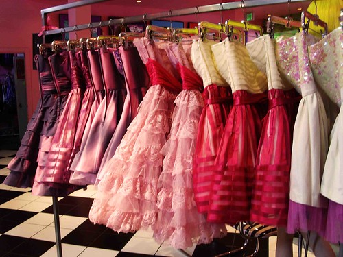 Betsey Johnson dresses are known for their bright colors and ruffles