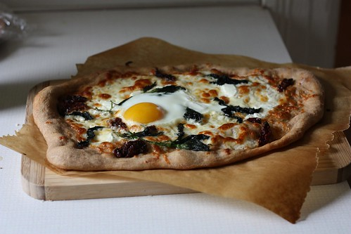 Nettle and Egg Pizza
