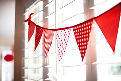 Strawberries & Cream bunting banner (giggleberry) Tags: handmade flags garland cotton etsy redandwhite bunting pennants desserttable partydecoration partyplanning fabricbanner customerfeedback giggleberrycreations