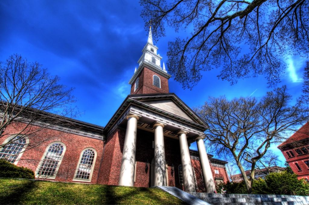 Memorial University Church on the Harvard University Campus.