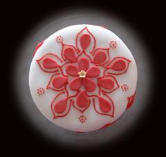 Henna Wedding Cake (DessertsByScrumptious) Tags: pink wedding white flower cake gold sandiego weddingcake petal henna shimmer ayesha fondant hennadesign toptier shimmerdust threetieredcakescrumptious