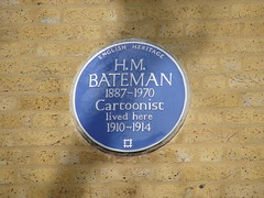 Photo of H. M. Bateman blue plaque
