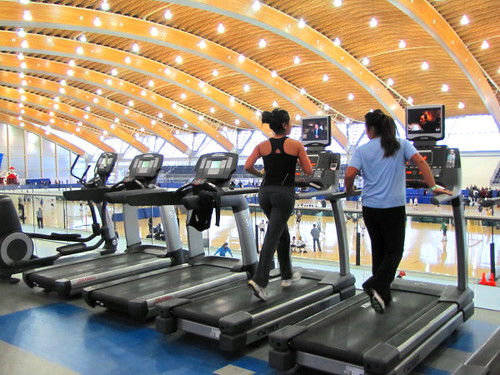 Enjoy a great view while getting fit at the Richmond Olympic Oval