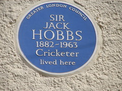 Photo of Jack Hobbs blue plaque