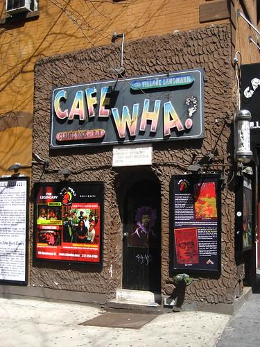 Cafe Wha? at MacDougal Street