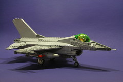 Fighting falcon (psiaki) Tags: airplane fighter lego jet f16 falcon fighting moc