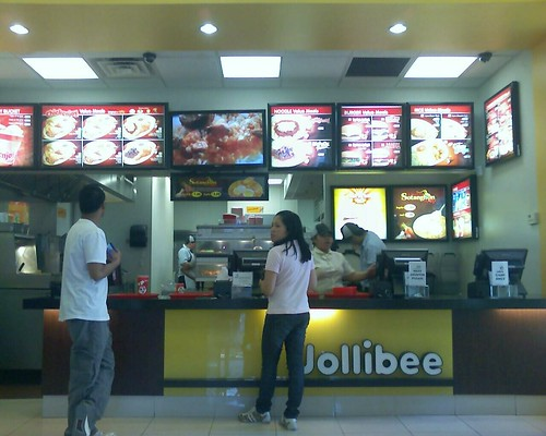 inside the yumburger lair at jollibee in queens yesterday.