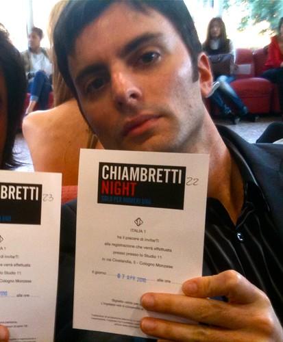 Me with Chiambretti Night pass