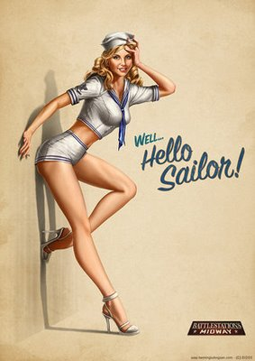hello sailor pin up