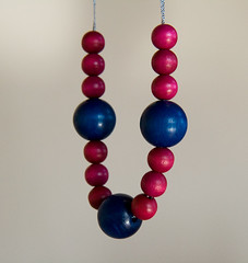 pink-blue-wood-beads-and-ribbon-necklace2a (lilabelledesign) Tags: glamour jewelry accessories springsummer woodbeads silverribbon ribbonnecklace europeanstreetteam summernecklace statementnecklace craftyirelandteam boldnecklace lilabelledesign pinkbluenecklace