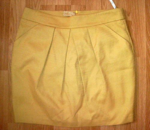 Mustard Dorothy Perkins skirt