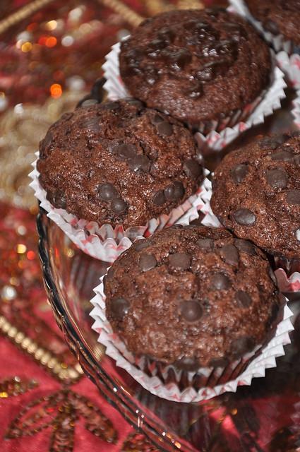 tarçınlı ve çikolatalı muffin