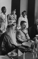 Hussein Ibn Talal [RF: Jordan RF];Saud Ibn Abdul Aziz [RF: Saudi Arabia RF] (K_Saud) Tags: dinner during king east jordan saudi arabia banquet middle foreign abdul hussein talal rf aziz ibn relations saud timeincown abdula 934981
