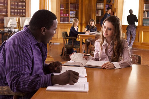 The Blind Side, Quinton Aaron and Lily Collins