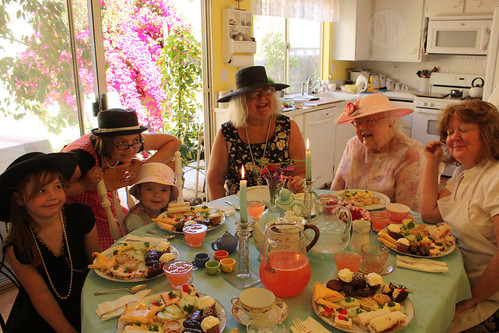 tea party with Grandma