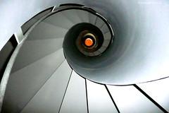 Helix (Renate Dodell) Tags: orange munich mnchen bayern stair grau treppe gre spiralstair wendeltreppe allerheiligenhofkirche bestcapturesaoi dorenawm