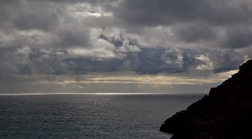 Dramatic skies off Porthcurno