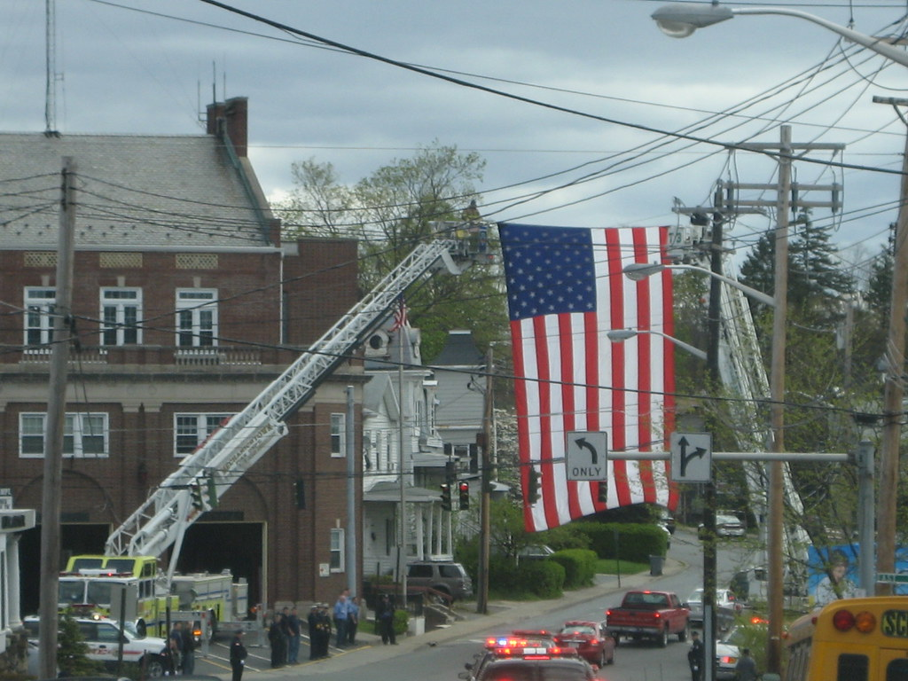 Orange County(NY)Sheriff'sPolice Cars at the Funeral for former Orange County Sheriff Roger Phillips in Middletown(NY)