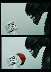 Hungry?? (Pedro Vezini) Tags: star lego alien stormtroopers stormtrooper croissant hungry wars lifeonthedeathstar