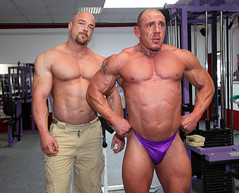 The guy on the right looks worried... (muscle[spell]bound) Tags: shirtless man training beard goatee power masculine muscle posing hunk bodybuilding buff strong strength speedo muscleman bodybuilder workout gym macho weight speedos studs protein weights testosterone bicep steroids tricep culturismo testosteron musculos muskel testos muskelmann culturiste