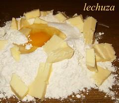 Tarta de manzana y almendras -ingrs. masa