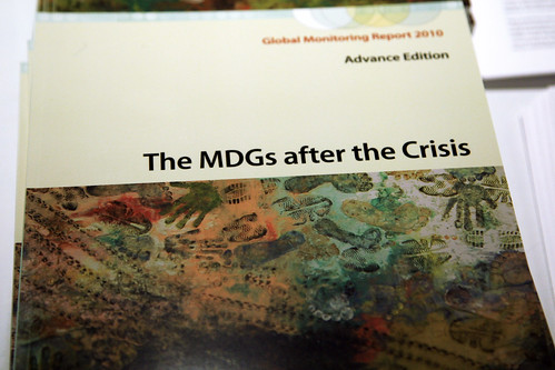 April 23, 2010 - Washington DC., World Bank/IMF Spring Meetings 2010. Global Monitoring Report: The MDGs after the Crisis.