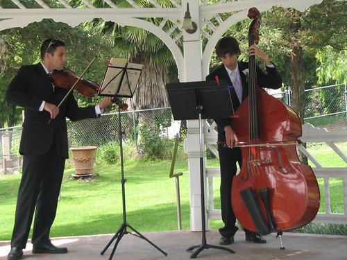 damian and dillon playing for the wedding