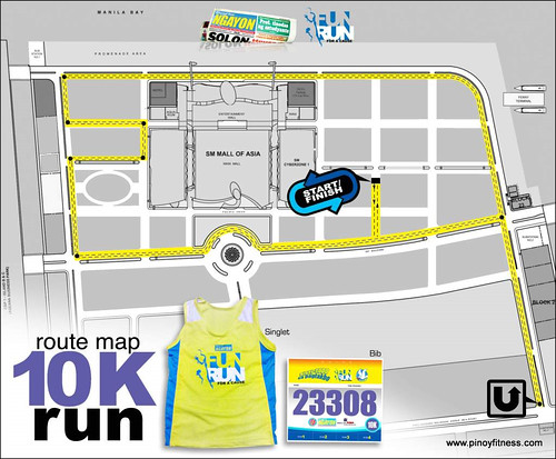 PSN 2010 Fun Run - 10K Race Map and Singlet