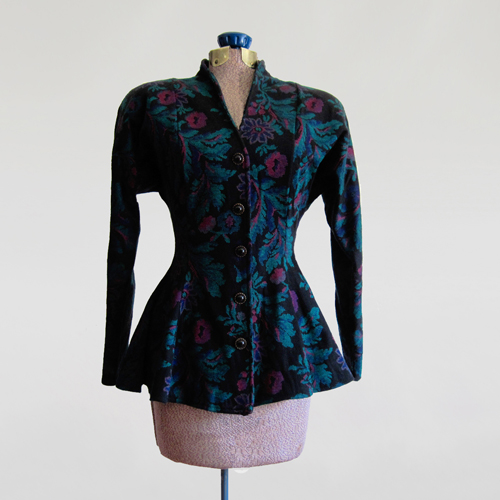 Vintage 1980s - 1990s Floral Peplum Jacket by All That Jazz