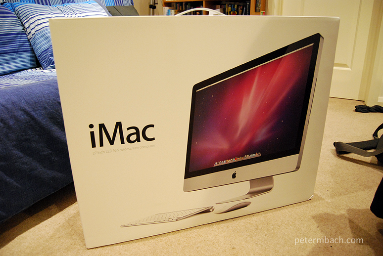 My new iMac (inner box)