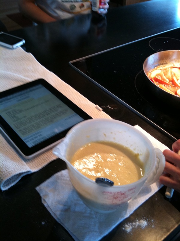 Cooking with iPad
