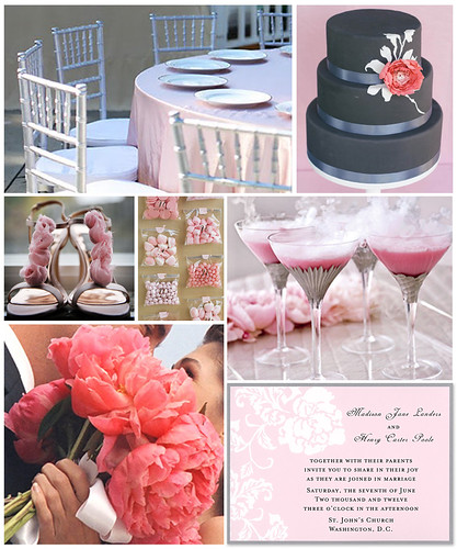 Peony and Pewter Wedding