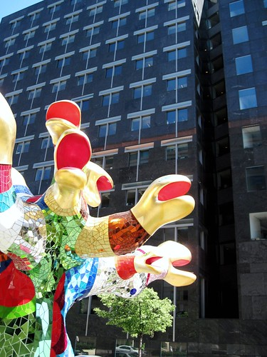 NRDC's building is in the background (sculpture by Niki de Saint Phalle, photo c2010 FK Benfield)