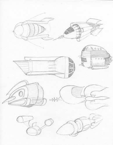 Some Buck Rogers Space Ships