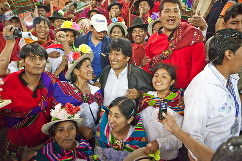 Celebration Dinner with Bolivian President Evo Morales - Colomi - Bolivia