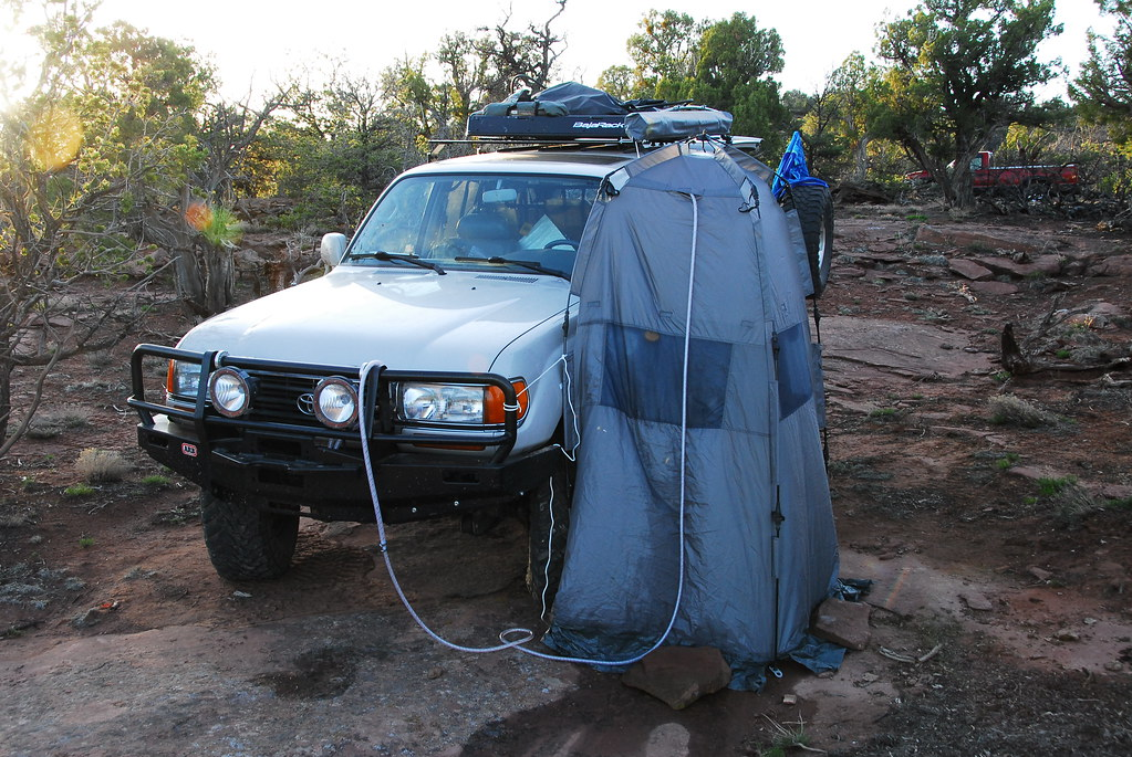 heisse dusche 4x4,  hot water shower 4wd