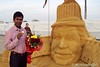 Sand Sculpture of Raj Kapoor the legend actor of Indian cinemas