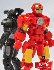 Iron Man 2 (Pete Corp) Tags: robot lego ironman guns marvel gundam mecha warmachine petecorp peteframe amazingarmory