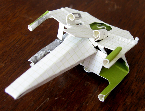 Star Wars X Wing Cockpit. Origami X-Wing for Star Wars