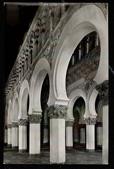 Sinagoga de Santa María la Blanca a mediados del siglo XX. Foto Arribas