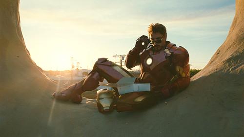 Robert Downey Jr. lends his trademark charm to 'Iron Man 2'.