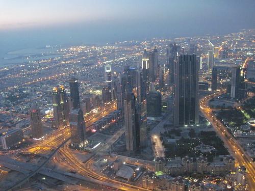 View from Burj Khalifa As Dusk Settles