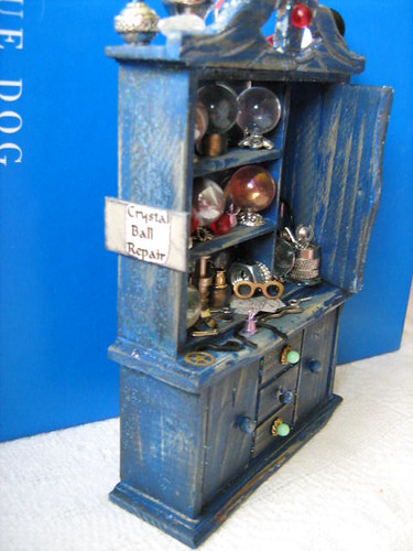 Wizard Who Repairs Crystal Balls Enchanted Cabinet~ 1:12th Scale