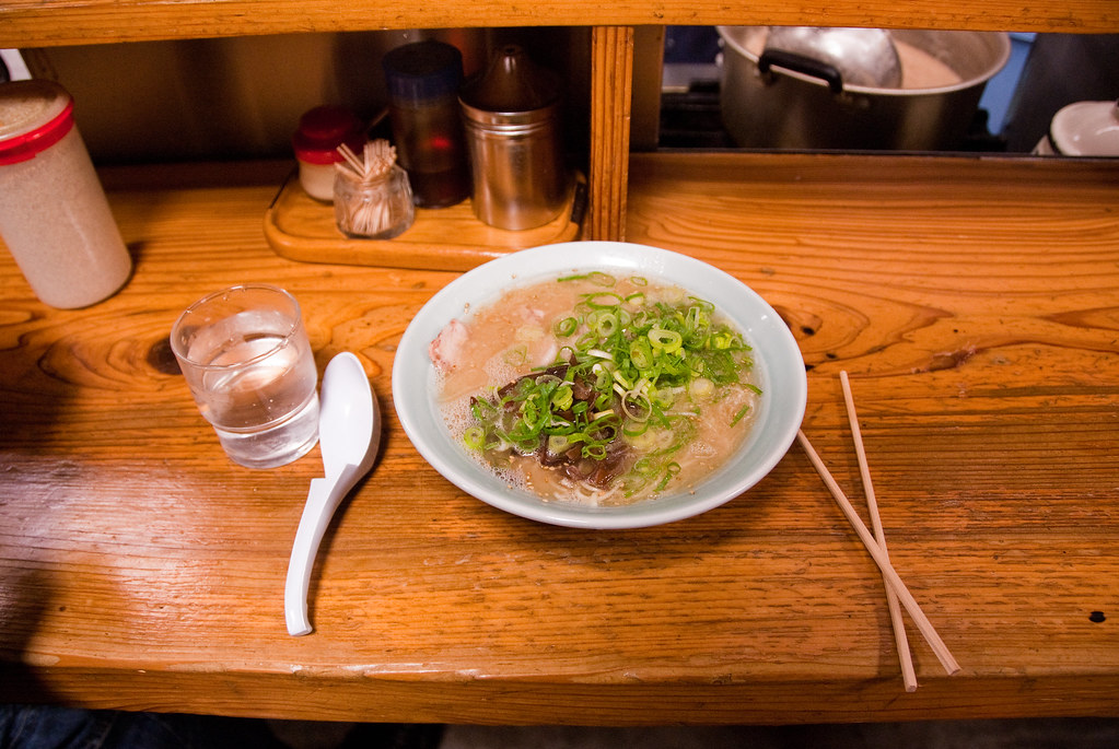 ramen on counter