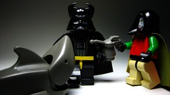 """Shark Repellant Bat Spray"" (leg0fenris) Tags: robin dark star shark starwars palpatine lego darth batman wars vader emperor repellant batspray legofenris"