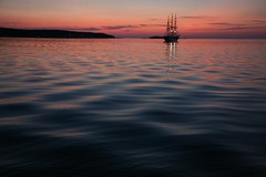 Radich in the Bay (Bruno Girin) Tags: sunset sea bay dusk tallships christianradich