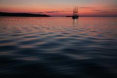 Radich in the Bay (Bruno Girin) Tags: sunset sea bay dusk tallships christianradich